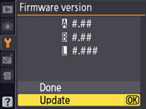 Nikon-D4-Menu-Firmware-Update